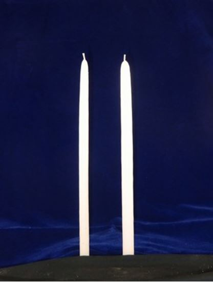 15 Inch White Hand Dipped Candle