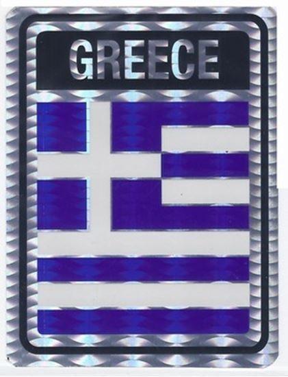 Greece Metallic Flag Sticker