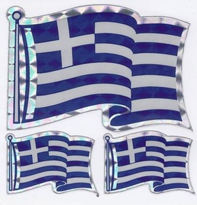 TriGreek Flag Sticker