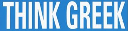Think Greek Bumper Sticker  OUT OF STOCK
