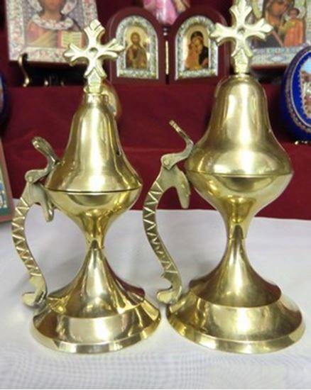 Etched Handle Brass Incense Burner