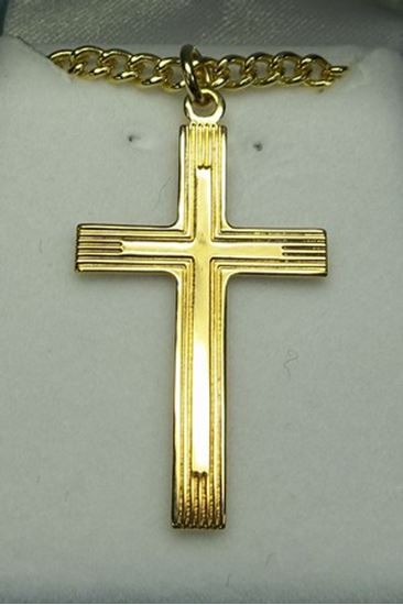 14Kt Gold Layered Sterling Silver Cross