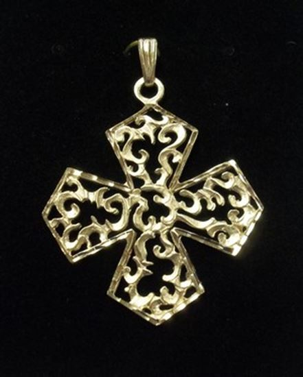Solid 14 KT Gold Cross
