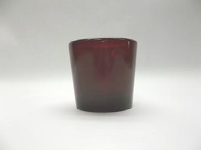 10 Hour Red (Ruby) Glass Candle Votive Holder